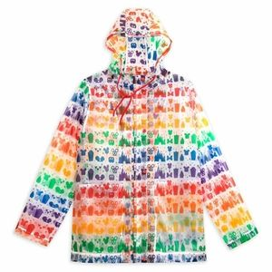 DISNEY Rainbow Rain Coat MEDIUM